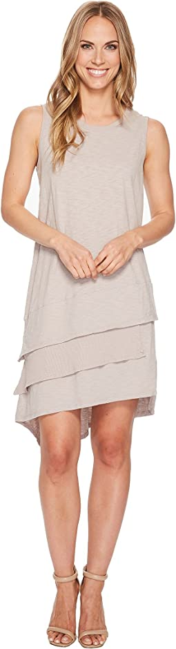 Luxe Cotton Slub 3-Tiers Tank Dress