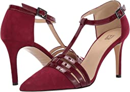 Dark Red Suede Patent