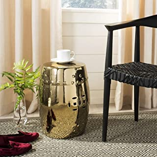 Safavieh Castle Gardens Collection Modern Ming Gold Ceramic Garden Stool