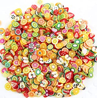 RayLineDo Pack of 100G Cute Design Polymer Clay Slices 3D Nail Art Stickers Fimo Slices for Slime, DIY Crafts (Above 5000 Pieces)