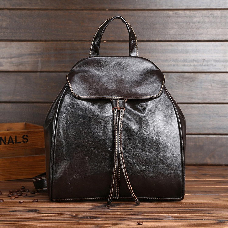 Frauen Rucksack Echtes Leder Wasserdichte Mode UmhNgetasche Griff Tasche