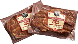 Smoked Pork Steaks - (6) 12-oz Steaks