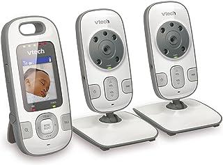 VTech VM312-2 Video Baby Monitor with Patrol-Screen Viewing, Night Vision, Talk-Back Intercom & 1,000 feet of Range with 2 Cameras