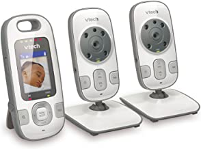 VTech VM312-2 Video Baby Monitor with Patrol-Screen Viewing, Night Vision, Talk-Back Intercom & 1,000 feet of Range with 2 Cameras