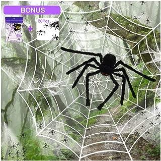 SILVIA 4 Packs Halloween Spider Decorations: 35.5