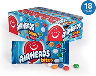 Airhead Bites Fruit Flavored Candy 2 Ounce Packs, Halloween Candy, Bulk, 18 Count (Pack of 1)