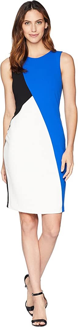 Black/Blue Color Block Dress