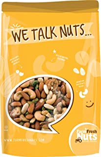 Farm Fresh Nuts DELUXE MIXED NUTS Roasted with Himalayan Salt (2 LB)