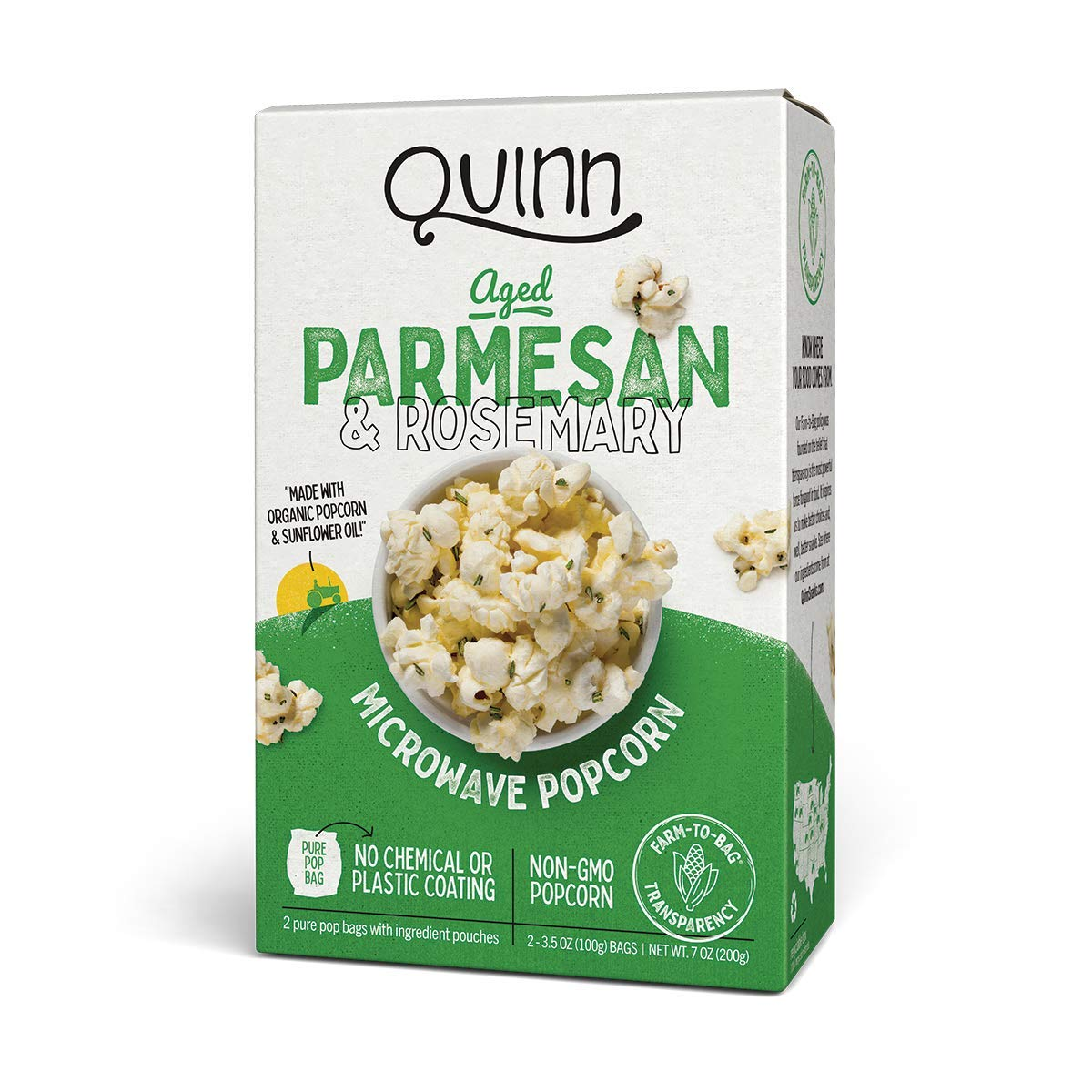 Quinn Microwave Popcorn - Made Online limited product New mail order Aged Organic with Non-GMO Corn