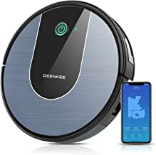 DeenKee Robot Vacuum, Works with Wi-Fi and Alexa, Strong Suction, Super Thin,120 Mins Working...