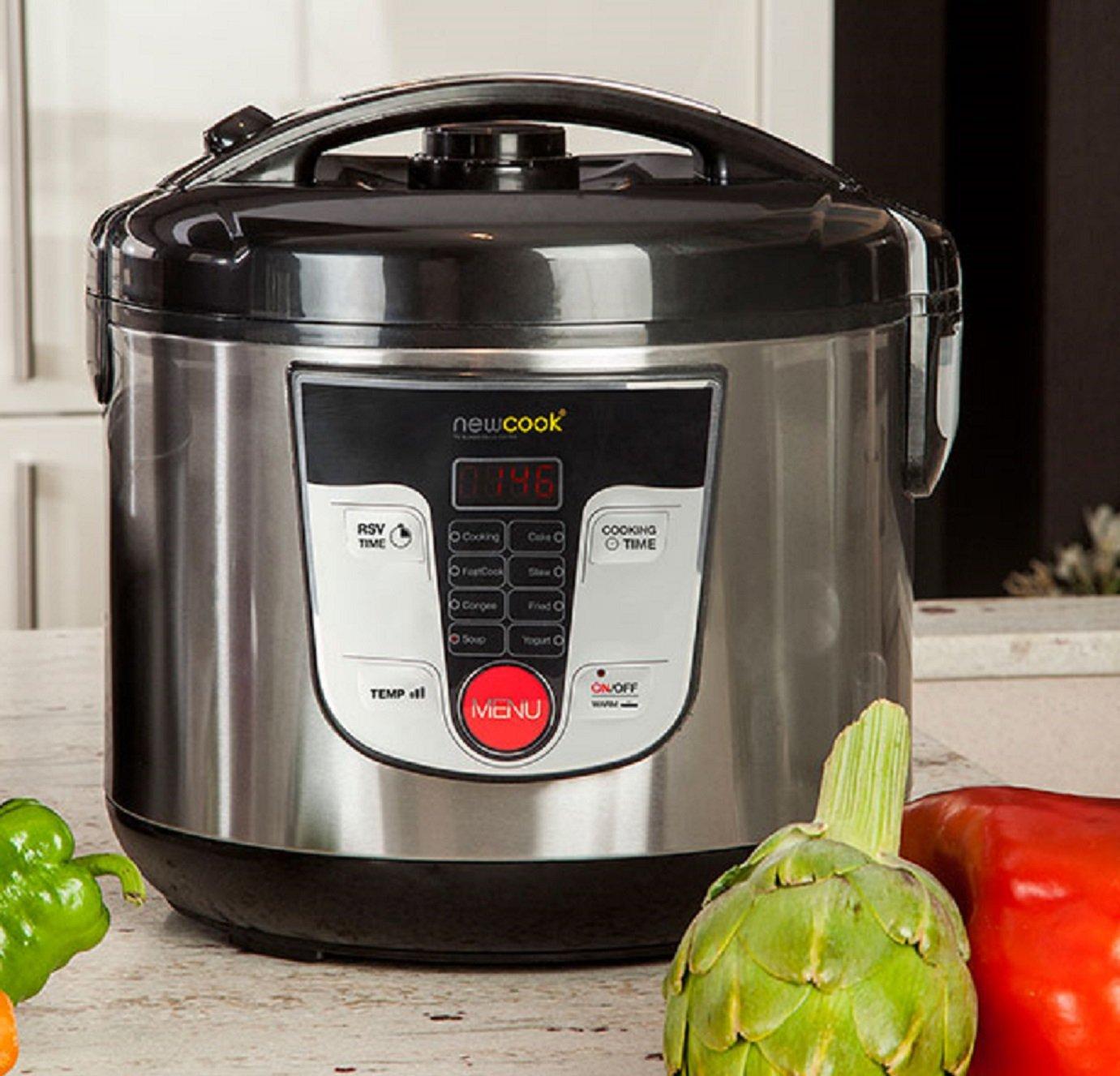 Top SHOP Newcook Robot de cocina 5 Lt de acero inoxidable 29 x 29 x 29 cm 700 W Negro KK1: Amazon.es: Hogar