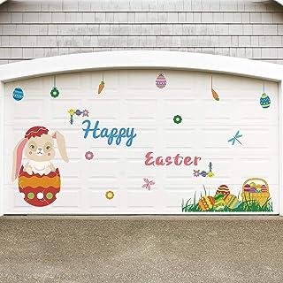 Rtudan Easter Decorations-Bunny Garage Door Decorations Easter Garage Archway Car Party Decor Balcony Decorate Window Deco...