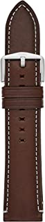 Genuine Leather and Stainless Steel Interchangeable Watch Band Strap