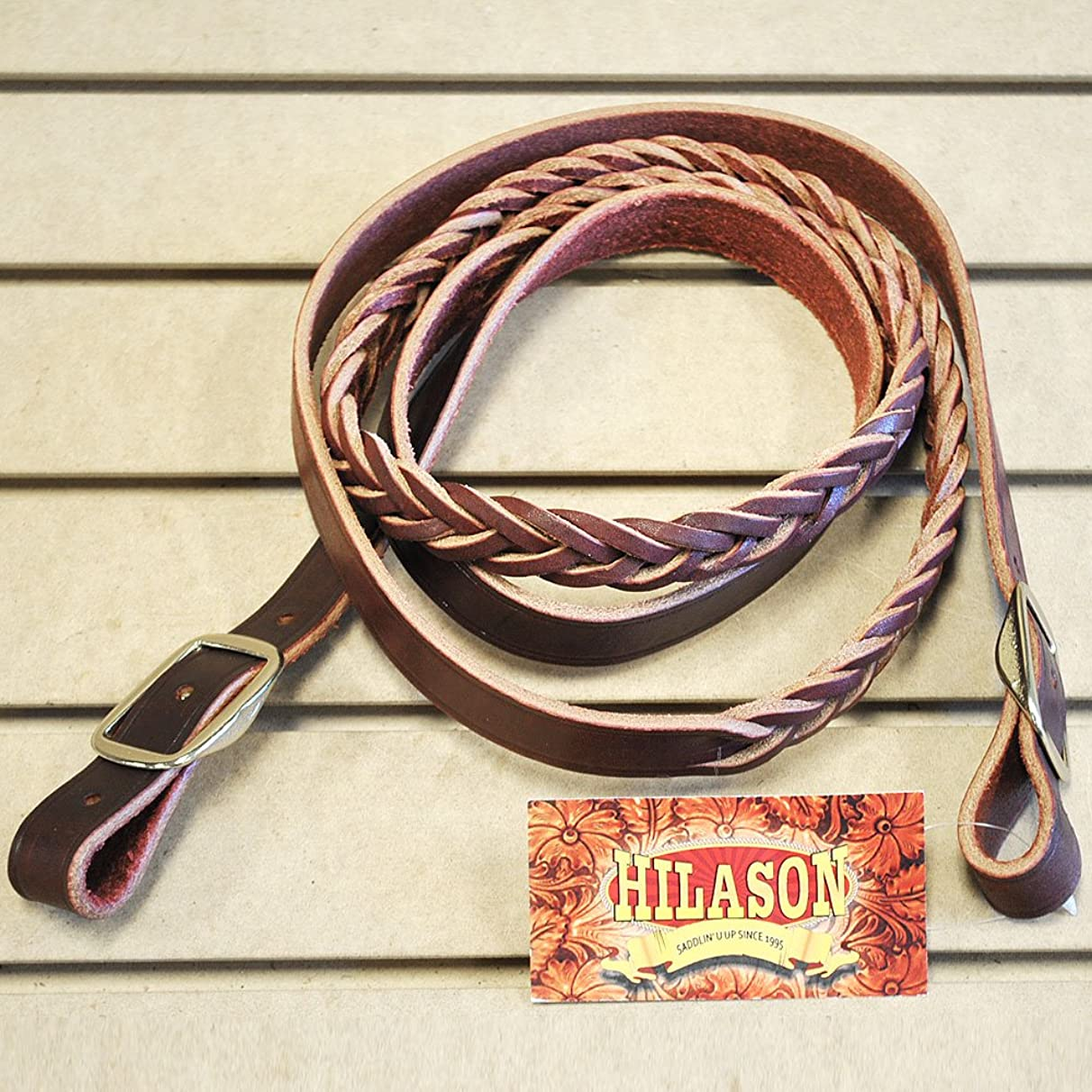 Aime Imports Western 4-Plaited Leather Roping Rein