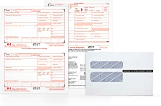 TOPS W-2 Tax Forms Kit for 2019; 6-Part Inkjet/Laser Form Sets for 26 Employees, 3 W-3 Transmittal Forms, 26 Peel & Seal Security Envelopes (TX22904KIT)