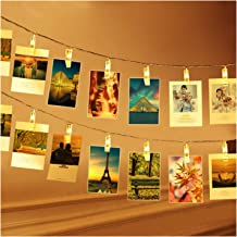 BETUS 10 Ft 20 LEDs Photo Clips String Lights - Battery Powered Fairy Twinkle Light with Clips for Hanging Photos Pictures...