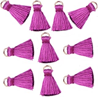 Mini Tassel Charms for Key Chains Jewelry Making,2 cm,Pack of 10