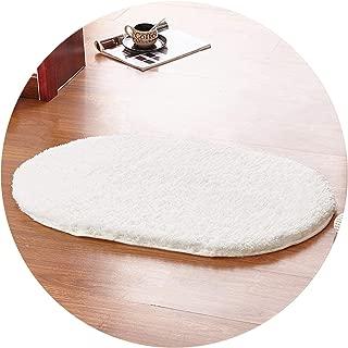 Show-Show-Fashion Shop&80x160cm Oval Rug Carpet Living Room Carpet Rugs Soft and Fluffy Warm Purple Red White Grey 9 Color Khaki,9,80x120cm