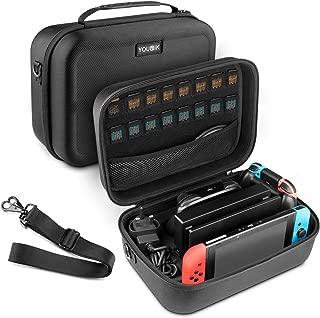 ニンテンドースイッチ ケース- Younik Nintendo Switch ケース 任天堂スイッチ 収納バッグ 豪華な高品質 for スイッチコンソール スイッチドック AC アダプター HDMI ケーブル プローコントローラー 18個のゲームカード