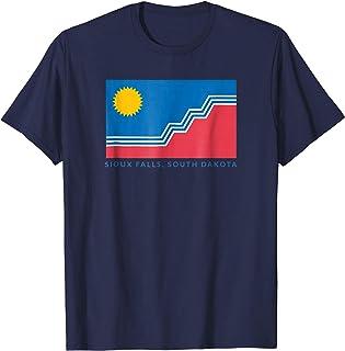 "Sioux Falls Flag T-Shirt with ""Sioux Falls, South Dakota"""