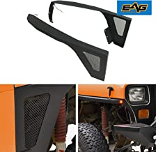 EAG Front Fender Flare with LED Eagle Lights Armor Fit for 87-95 Jeep Wrangler YJ