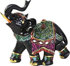 Worth Having - Lucky Elephant Statue- Black Resin Elephant Figurine Thai Feng Shui Elephant Sculpture Wealth Good Luck Gif...