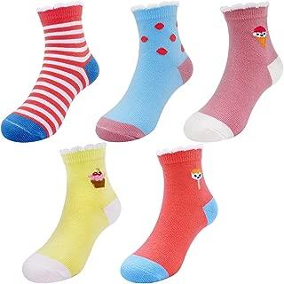 5 Pack Baby Toddler Little Girls' Ice Cream Cute Cotton Crew Socks Winter Warm Cotton Kids Socks