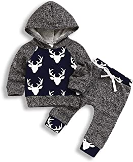 "Xuefoo Daddy""s Boy Neugeborene Camouflage Strampler Kleidung Set Infant Hoodies Top  Hosen Kleinkind Hoodie Outfit Set Tarnung-2, 6-12 Monate"