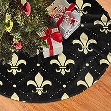 Antonia Bellamy Fleur De Lis Christmas Tree Skirts 36