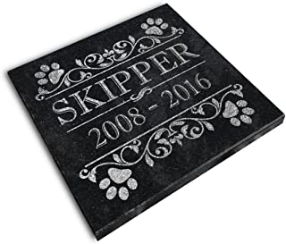 Personalized Small Pet Memorial Plaque 6x6 Cat Dog Garden Grief Sympathy In Memory Grave Marker