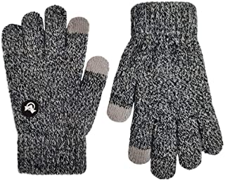 LETHMIK Mix Knit Touchscreen Gloves,Kids Texting Winter Cold Weather Gloves for Boys&Girls