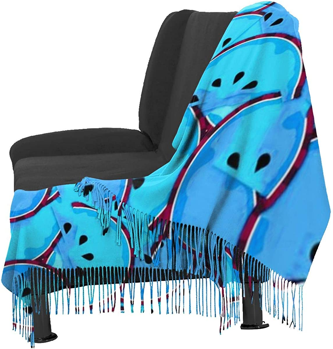 Funny Blue Watermelon Women's Winter Warm Scarf Fashion Long Large Soft Cashmere Shawl Wrap Scarves