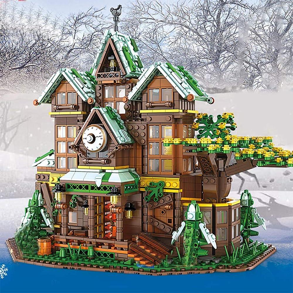 Snow house case di costruzioni compatibile con la serie lego creator  casa inverno regalo per natale A08MO71D14V40HP5Q1