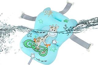 Baby Bath Cushion Newborn Bath Cushion Seat Infant Anti-Slip Floating Bather Bathtub Pad Cute Infant Bath Support Soft Bat...