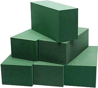 KAPAYONO Blocs Verts de Briques de Mousse Florale de 16Pcs pour L'Arrangement Floral et Les DéCorations de Vacances de Mar...