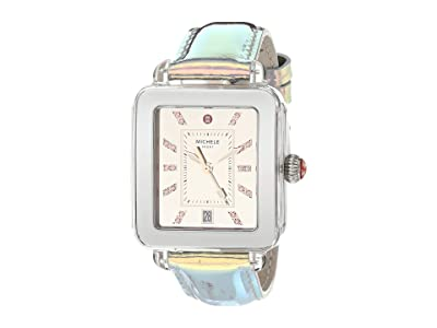 Michele Deco Sport Iridescent and Mirror Dial (Aqua) Watches