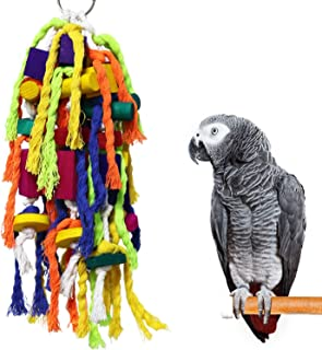 RYPET Large and Small Parrot Chewing Toys - Parrot Cage Bite Toys Wooden Block Tearing Toys for Conures Cockatiels African Grey and Other Amazon Parrots