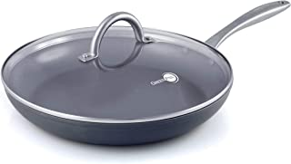 "GreenPan Lima 12"" Ceramic Non-Stick Covered Frypan, Gray - CW0004157"