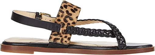 Black Leather/Mini Cheetah Hair On/Gold