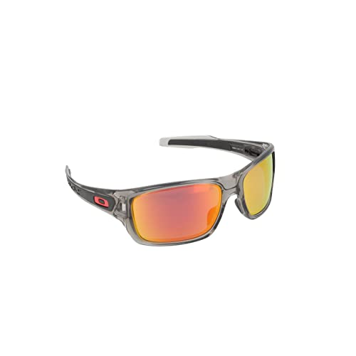 e9c6eec9ae Oakley Men's Turbine OO9263-09 Polarized Iridium Rectangular Sunglasses