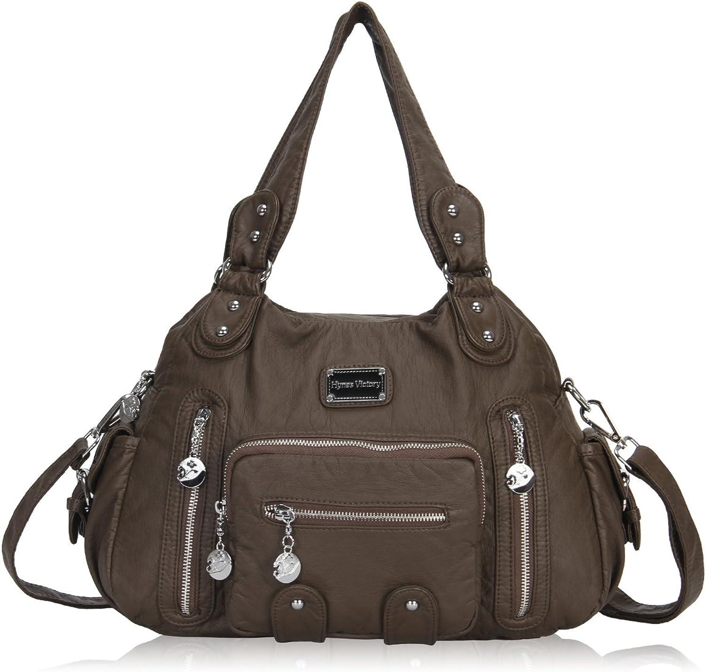 Veevan Gewaschenem Leder Retro Hobo Schultertaschen Handtaschen Erdebraun B06Y29KM12  Heißer Verkauf