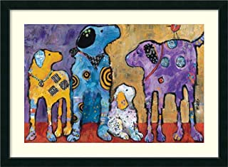 Framed Wall Art Print Cast of Characters: Dogs by Jenny Foster 45.12 x 33.12