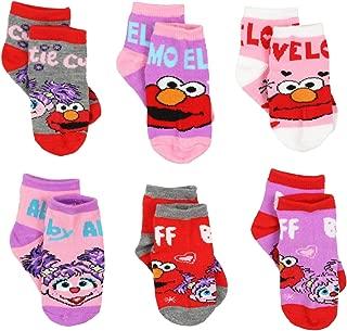 Elmo Abby Toddler Girls 6 pack Quarter Socks