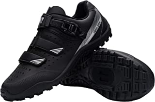 Fenlern Zapato de Ciclismo rígido Antideslizante Zapato de MTB Transpirable Correa de Velcro con Hebilla