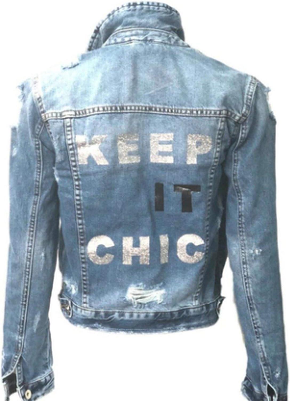 Hipchik Keep It Chic Jean Denim Jacket