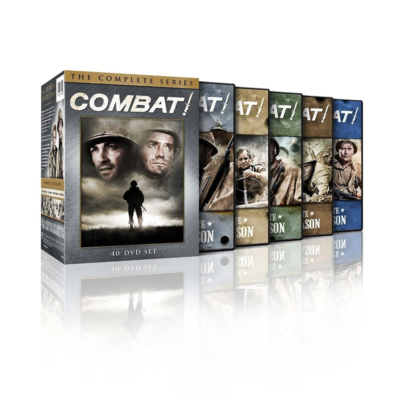 Combat! The Complete Series DVDS Seasons 1,2,3,4,5 Disc Box Set New & Sealed fgd3327621060