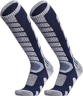 WEIERYA, Pack de 2 pares de calcetines de esquí para esquí, snowboard, clima frío, calcetines de invierno