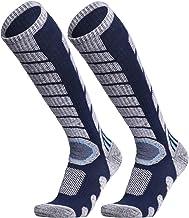 جوراب اسکی WEIERYA 2 جفت بسته برای اسکی ، اسنوبورد ، آب و هوای سرد ، جوراب عملکرد زمستانی