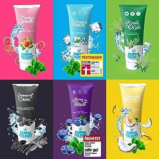 DENTAL DELIGHT 5-pack Testpakket Tandpasta met Smaak Veganistische, Microplastic-Vrij