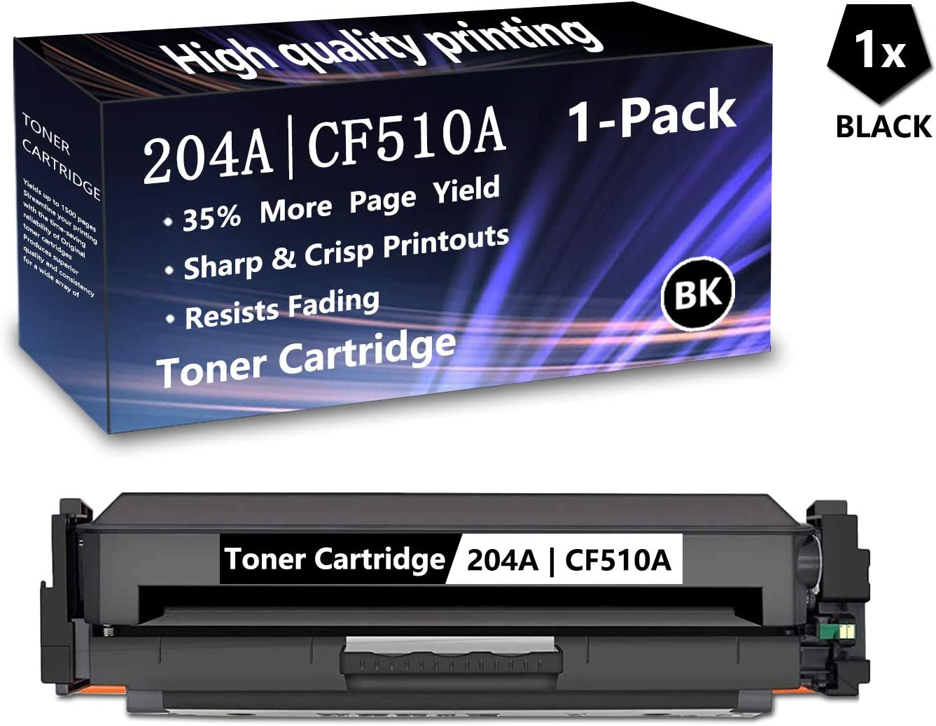 1 Pack Black 204A CF510A for H Cartridge Replacement Elegant Max 50% OFF Toner
